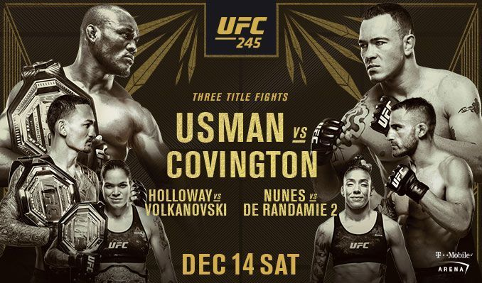 UFC 245; Main-Card Previews and Predictions